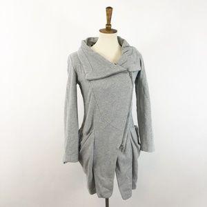 RACHEL Rachel Roy Asymmetrical Sweatshirt Jacket